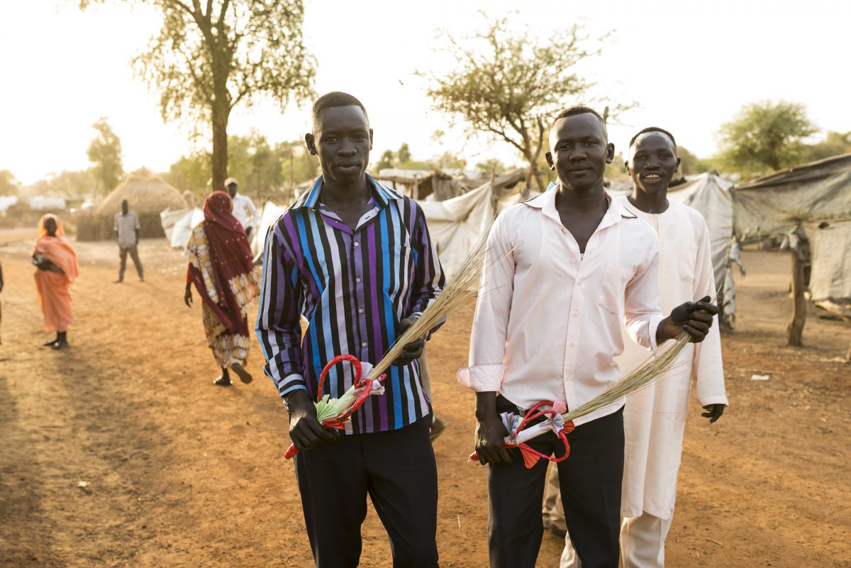 Young men in South Sudan