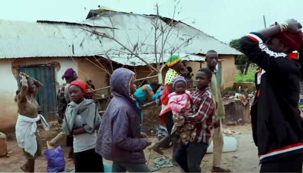 People after village attacked in Nigeria