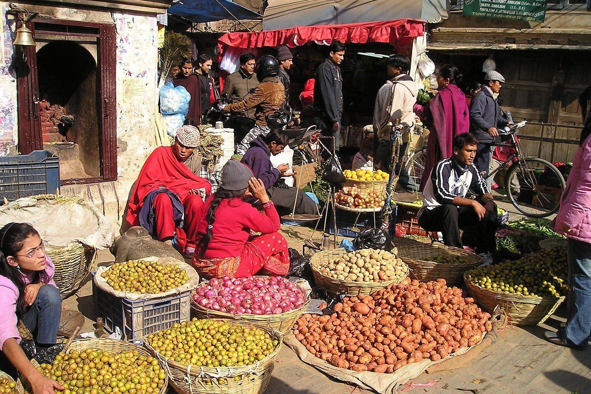 Nepal, street market