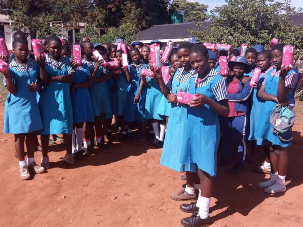 sanitary pads distribution Zimbabwe