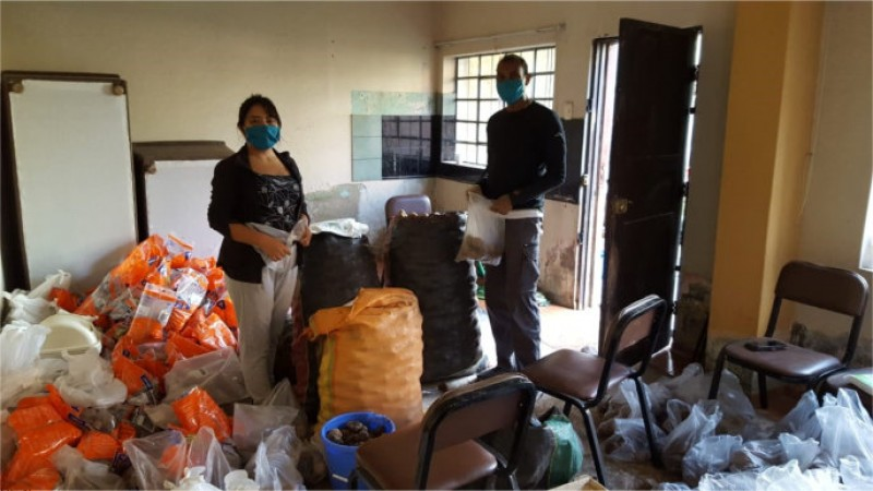 Venezuelan refugees in Peru receiving aid